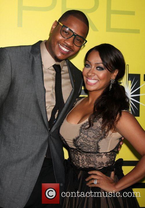 Carmelo Anthony and LaLa Vasque BET networks chairman...