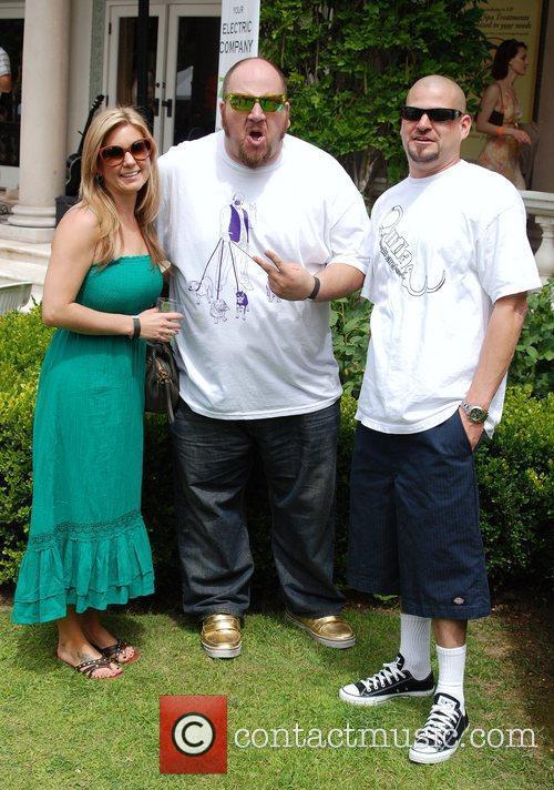 Jarrod Schulz and Brandi Schulz with Stephen Kramer...
