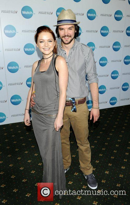 Hannah Spearritt and Andrew Lee-Potts attend a photo...