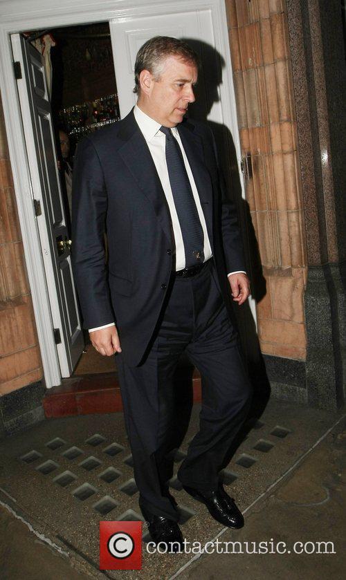 Departs the George restaurant in Mayfair