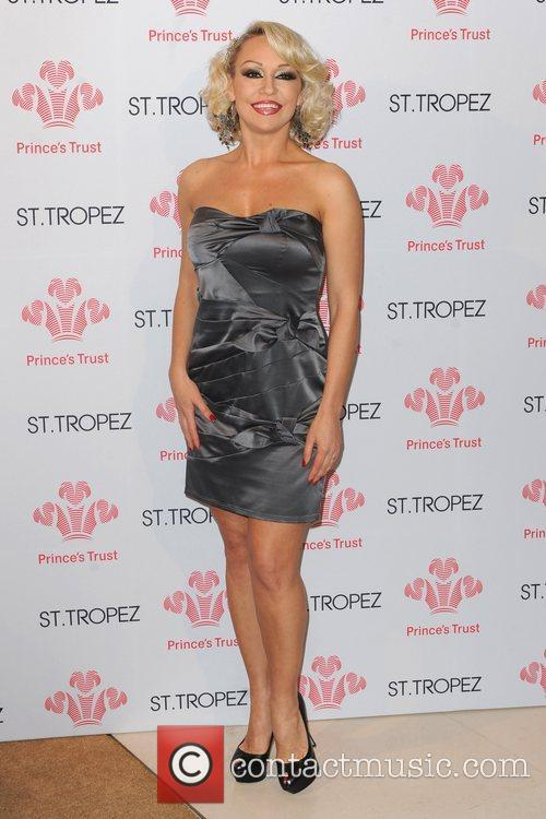 Kristina Rihanoff, wearing a ring on her engagement...