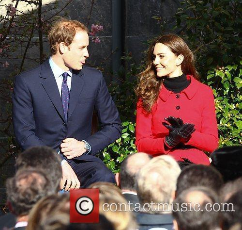Prince William sticks his tongue out at Kate...