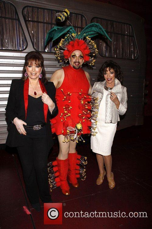 Joan Collins, Tad Wilson and Jackie Collins...