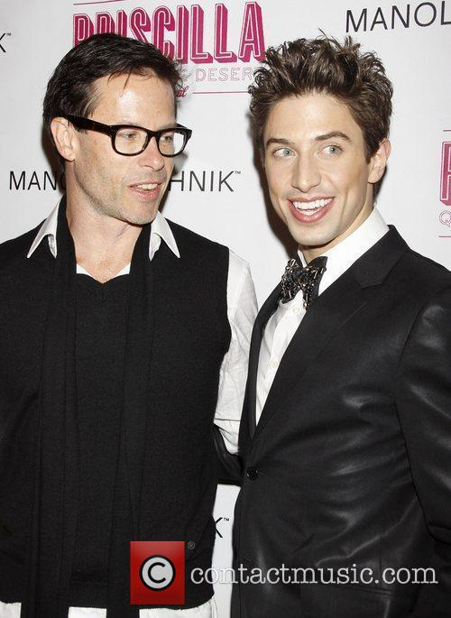Guy Pearce and Nick Adams Opening night after...