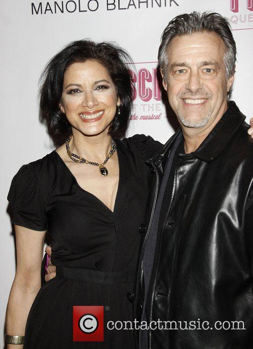 Saundra Santiago and Guest Opening night after party...
