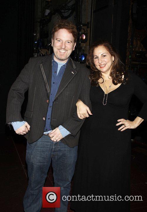 Dan Finnerty and Kathy Najimy celebrating their 15...