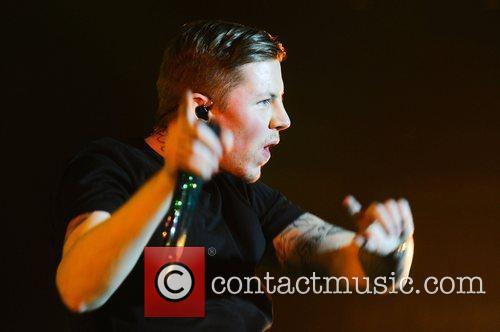 Professor Green performing at the Roundhouse