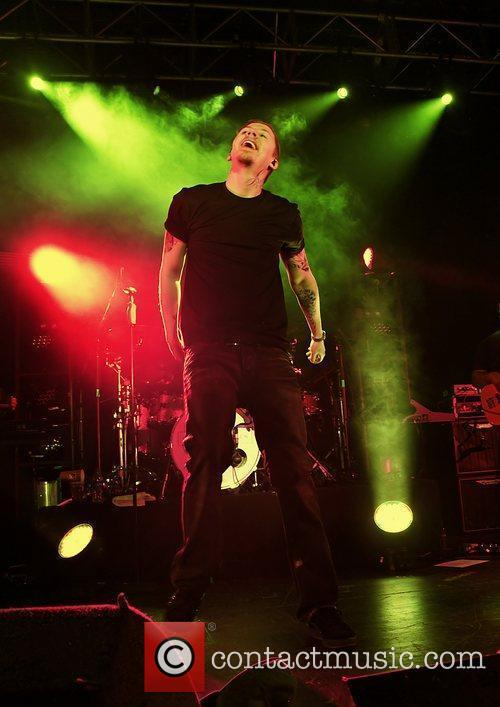 Professor Green performing at Liverpool University Mountford Hall