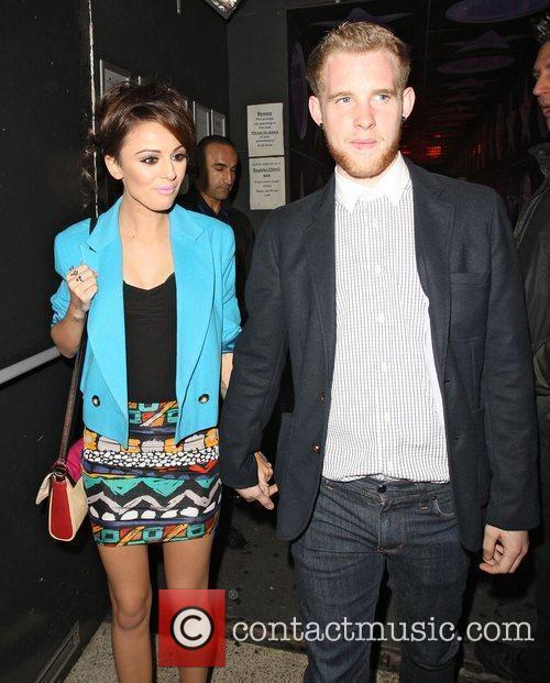 Cher Lloyd and her boyfriend Craig Monk leaving...