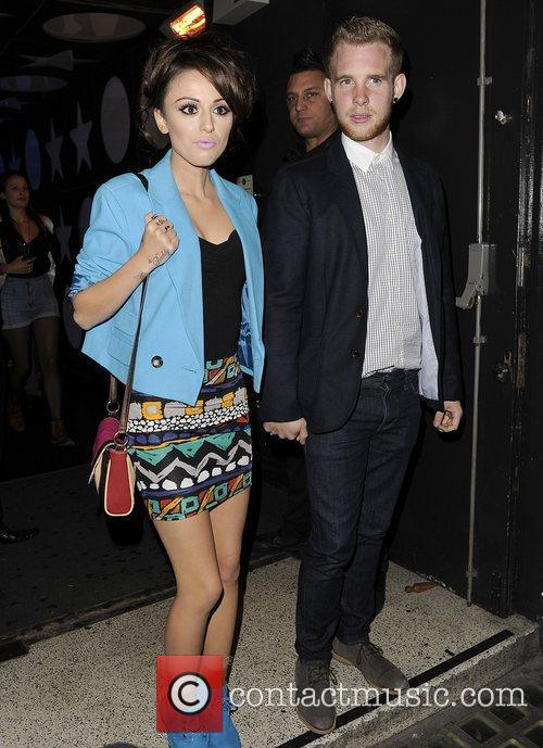 Cher Lloyd and her boyfriend Craig Monk leaving...