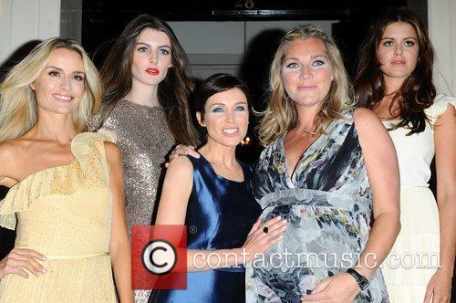 Danni Minogue and Tabitha Somerset Webb with Models...