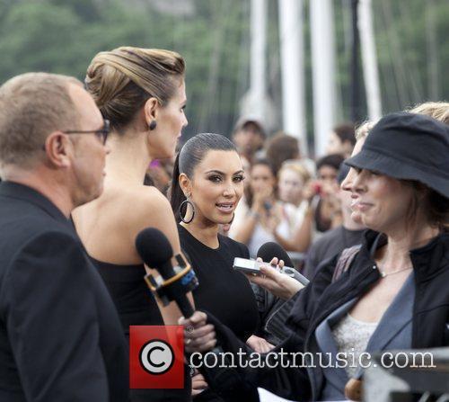 Kim Kardashian, Heidi Klum, Michael Kors and Nina Garcia 2