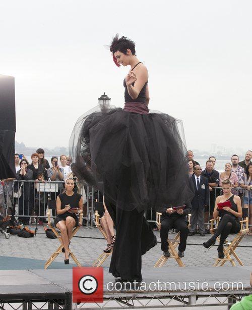 Kim Kardashian, Heidi Klum, Michael Kors and Nina Garcia 9