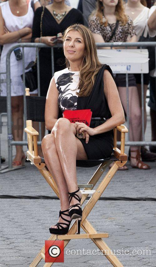 Nina Garcia shooting on location for Lifetime's 'Project...