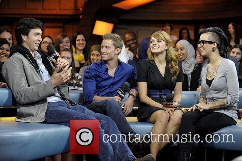 Nicholas Braun, Aimee Teegarden and Jonathan Keltz 2