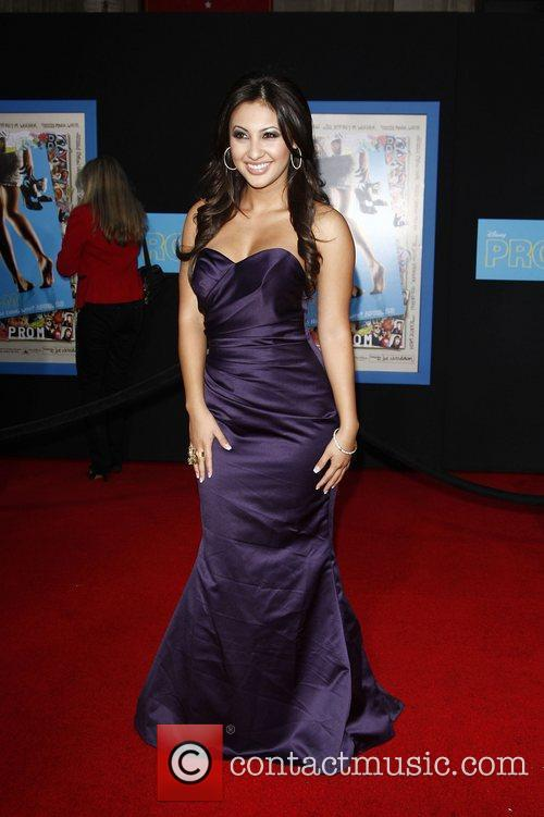 Francia Raisa World Premiere of 'Prom' at the...