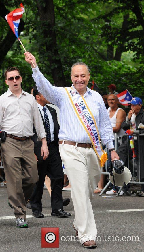 Chuck Schumer 2011 National Puerto Rican Day Parade...