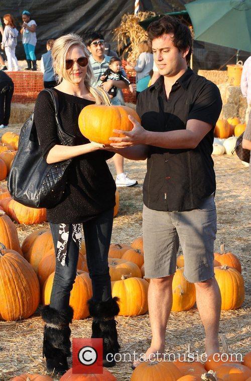 Jennifer Woods and Ryan Cleary visit Mr. Bones...
