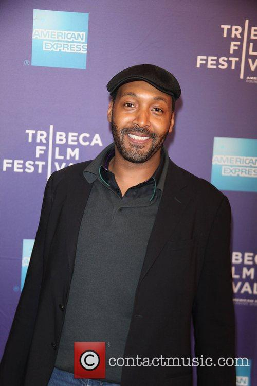Jesse L Martin at the premiere of 'Puncture'...