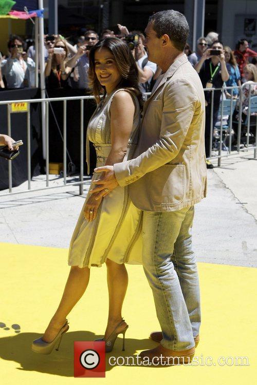 Antonio Banderas and Salma Hayek The premiere of...