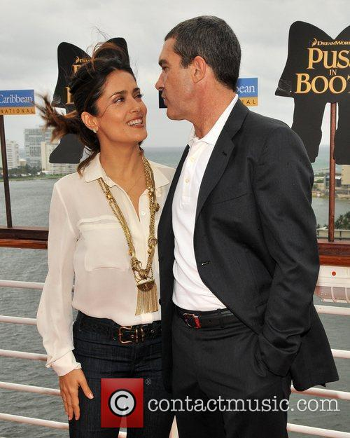 Antonio Banderas, Dreamworks, Fort Lauderdale and Salma Hayek 1