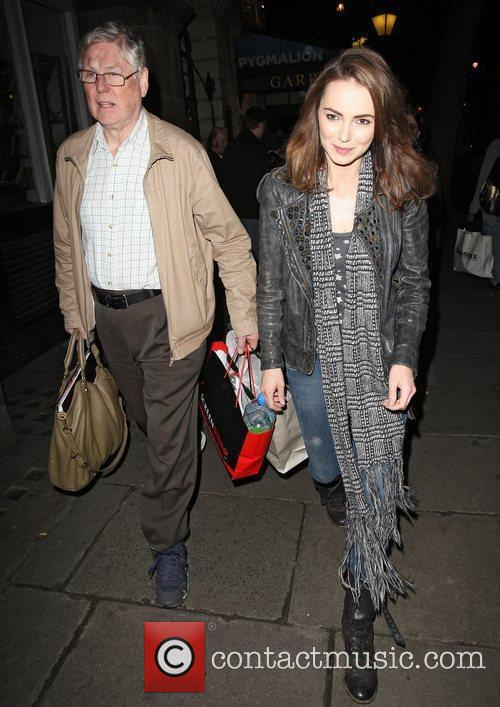 Kara Tointon leaving the Garrick Theatre after performing...