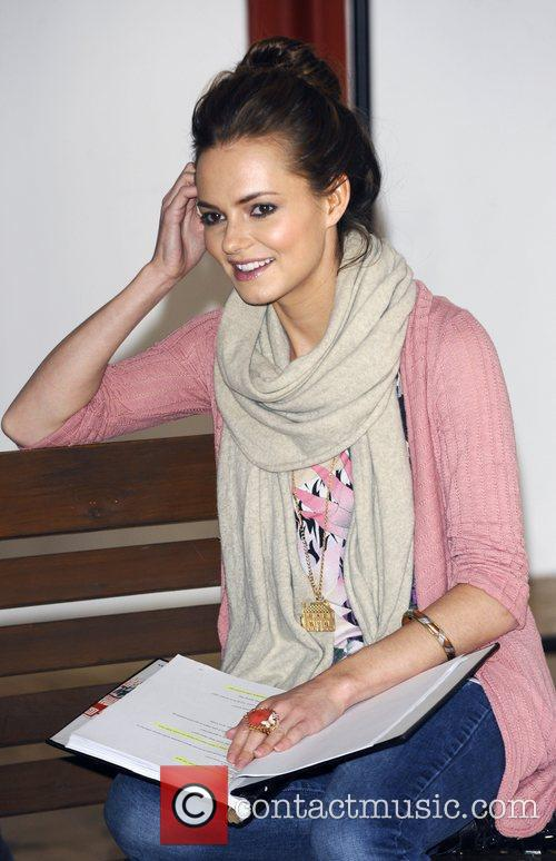 Kara Tointon at the first day of rehearsals...