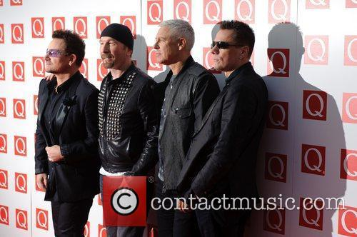 The Edge, Adam Clayton, Bono, U2 and Grosvenor House 8
