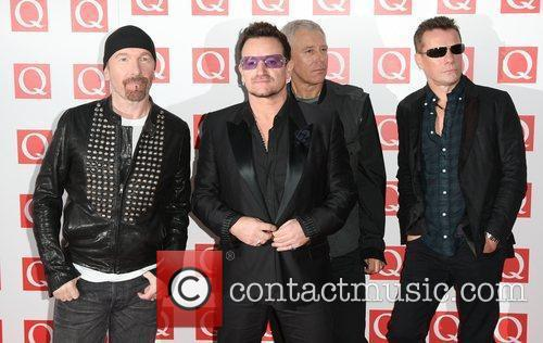The Edge, Adam Clayton, Bono, U2 and The Q Awards 2