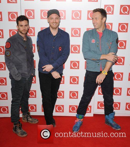 Guy Berryman, Chris Martin, Coldplay and The Q Awards 2