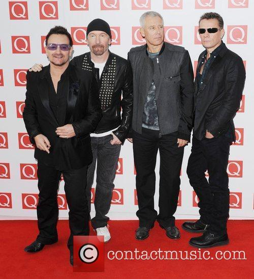 The Edge, Adam Clayton, Bono, U2 and The Q Awards 6