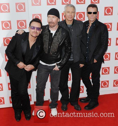 The Edge, Adam Clayton, Bono, U2, The Q Awards