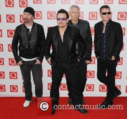 The Edge, Adam Clayton, Bono, U2 and The Q Awards 4