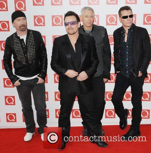 The Edge, Adam Clayton, Bono, U2 and The Q Awards 5
