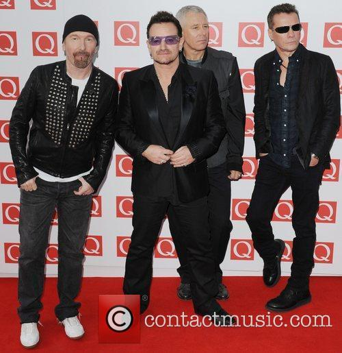 The Edge, Adam Clayton, Bono, U2 and The Q Awards 3