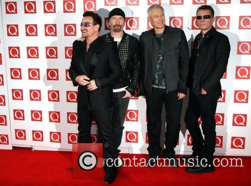 Bono, Adam Clayton, Larry Mullen Jr, The Edge, U2 and Grosvenor House 6