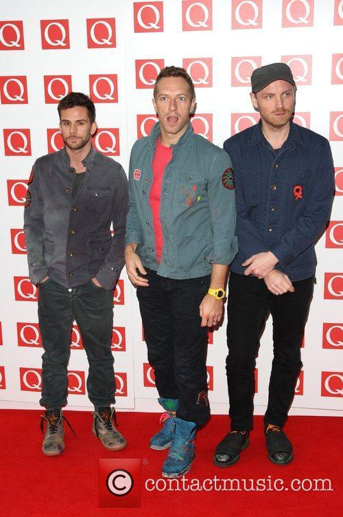 Jonny Buckland, Chris Martin, Coldplay, Guy Berryman and Grosvenor House 2
