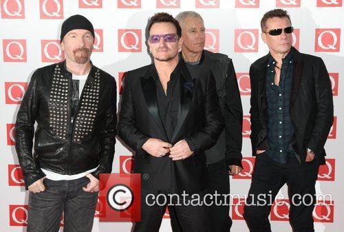 Bono, Adam Clayton, Larry Mullen Jr, The Edge, U2 and Grosvenor House 7