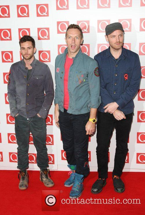 Jonny Buckland, Chris Martin, Coldplay, Guy Berryman and Grosvenor House 1