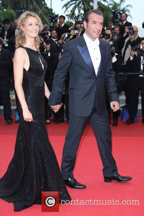Jean Dujardin and Alexandra Lamy 2011 Cannes International...