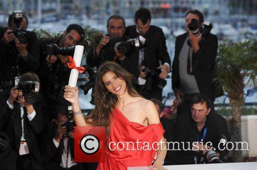 French director and actress Maiwenn poses after winning...