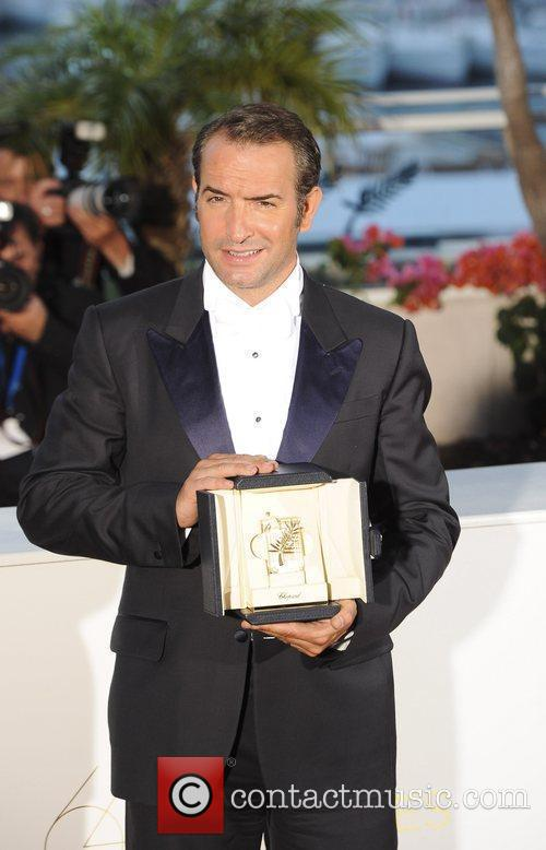 Jean Dujardin for the film 'The Artist' pose...