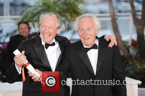 Directors Luc Dardenne (L) and Jea-Pierre Dardenne, winners...