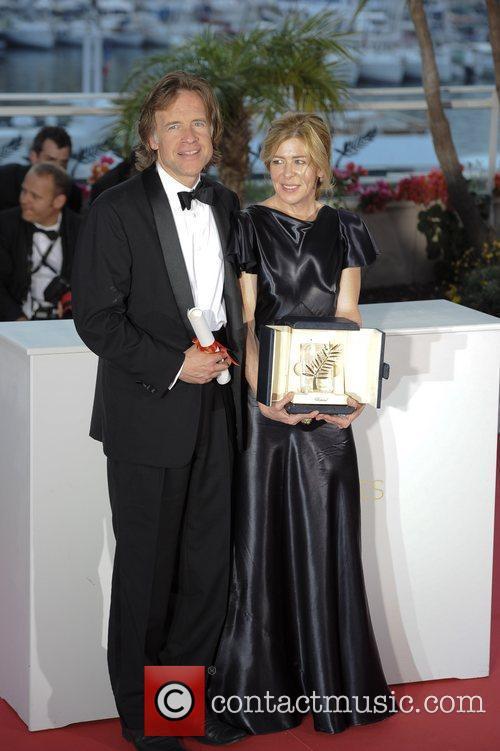 Producers Bill Pohlad (L) and Dede Gardner pose...
