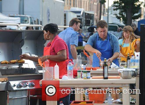 Rachael Ray conducts the Great Philly Grill-Off and...