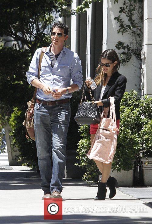 Rachel Bilson is seen running errands with a...