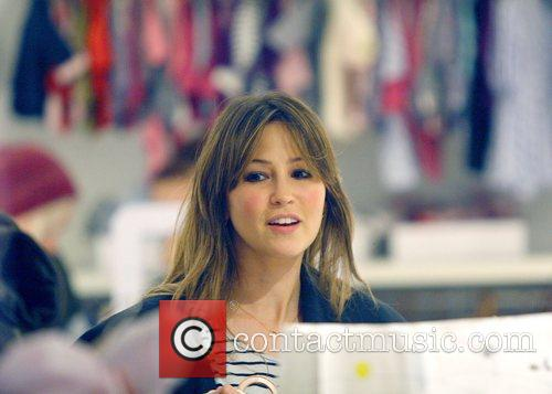 Rachel Stevens shopping for baby clothes at Petit...