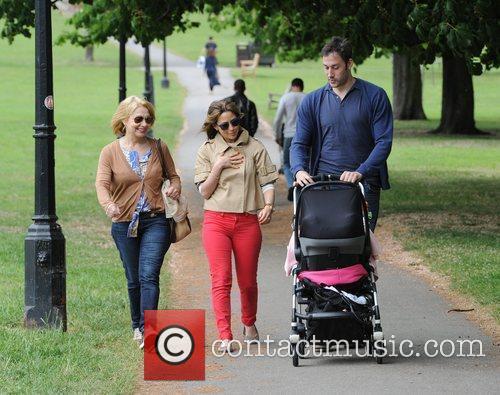 Rachel Stevens and her husband Alex Bourne take...