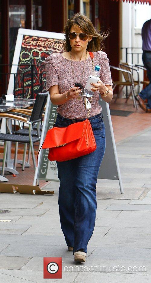 Rachel Stevens out and about in North London...