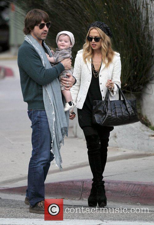 Rachel Zoe, Rodger Berman and their son Skyler...